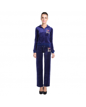 JUICY COUTURE Original I Love Juicy Sequin Velour Jacket and Original Pants (Blue) (MADE IN USA)