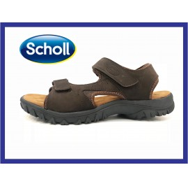 [CLEARANCE] SCHOLLS Men's Leather Ultralight Sandal Foam Sole JEFF (Brown)