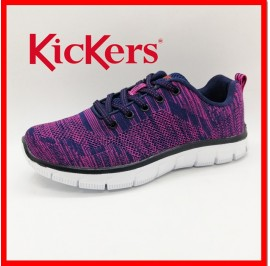 NEW KICKERS WOMEN ULTRALIGHT SPORT ACTIVE ATHLEISURE FLYKNIT SNEAKER READYSTOCK