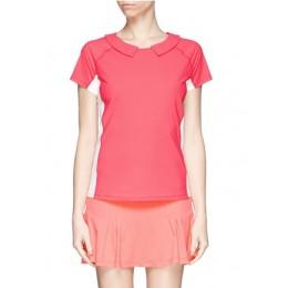 HU-NU ACTIVEWEAR Two Way Collar Tee (Pink)