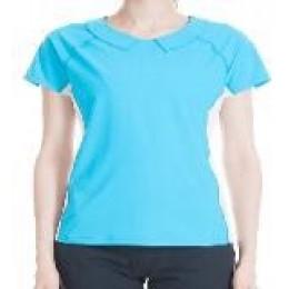 HU-NU ACTIVEWEAR Two Way Collar Tee (Blue)